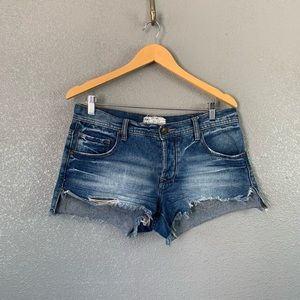 Free People distressed cut off jean shorts 27